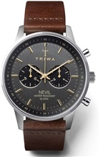 Triwa Smokey Nevil Leather Dark Brown Classic